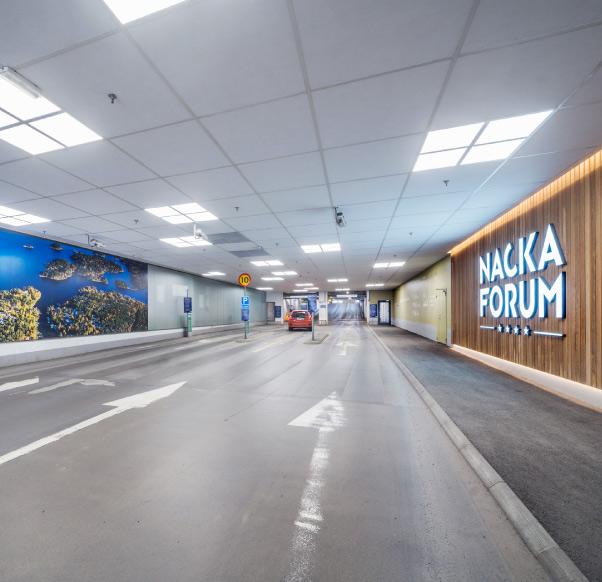 Parkering i Nacka Forum