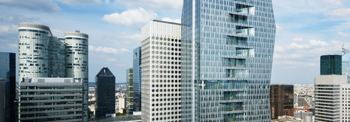 3D rendering of Majunga tower in La Défense