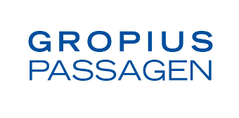 Logo of Gropius Passagen shopping centre in Berlin