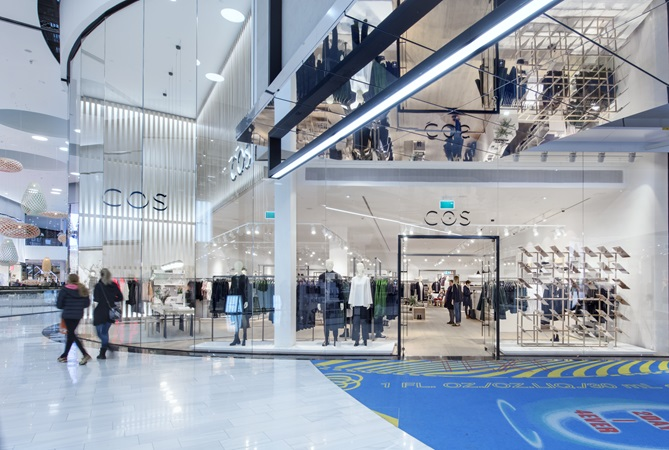 Picture of COS iconic shopfront at the designer gallery in Mall of Scandinavia