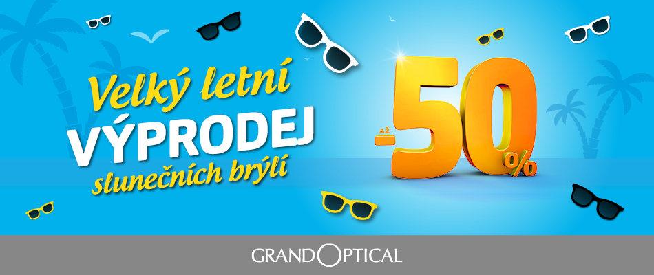 Velký letní výprodej slunečních brýlí v GrandOptical!