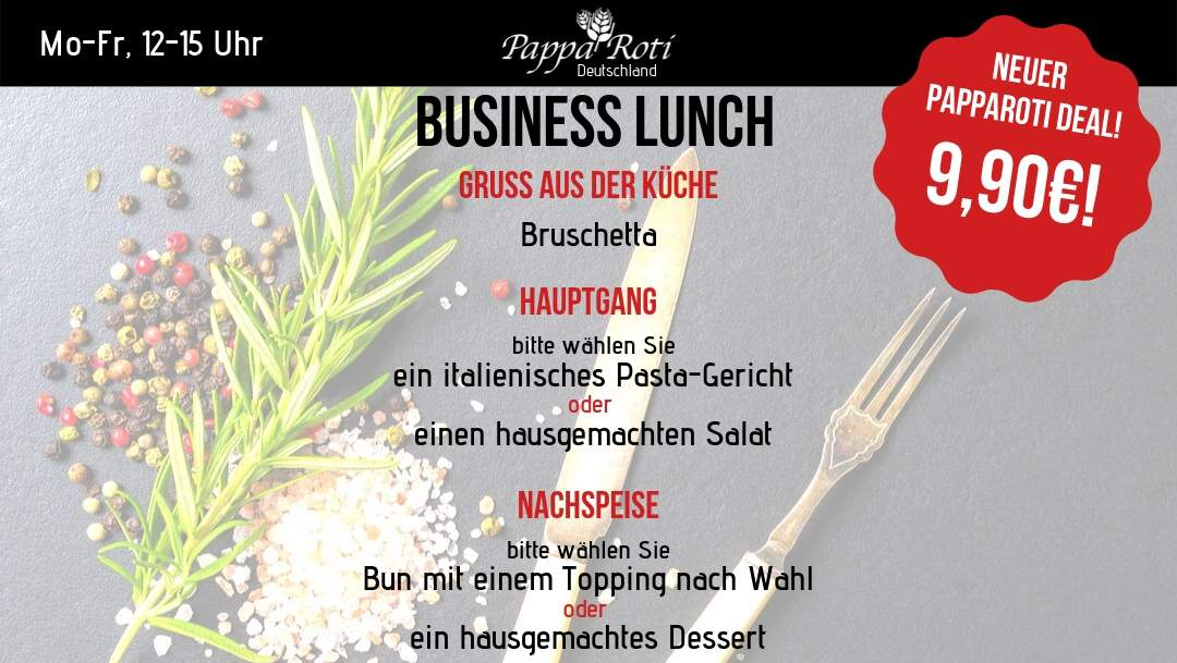 Business Lunch bei PappaRoti