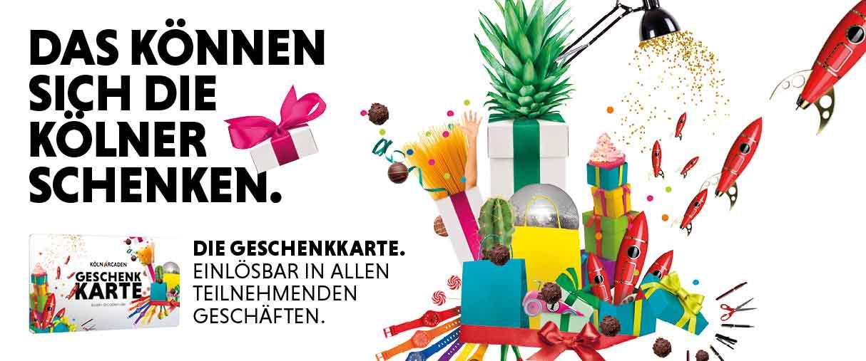 Geschenkkarte der Köln Arcaden