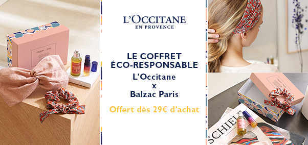 Collaboration L'OCCITANE x Balzac