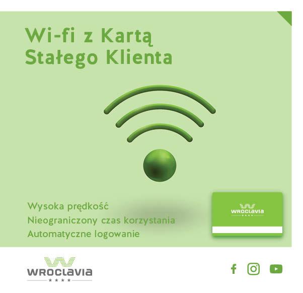 Korzystaj z bezpłatnego Wi-fi z Kartą Stałego Klienta Wroclavii