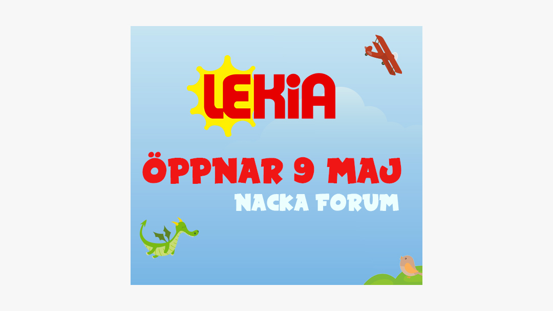 Lekia öppnar i Nacka Forum den 9 maj