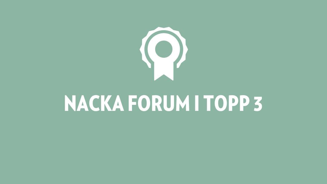 Nacka Forum i Topp 3