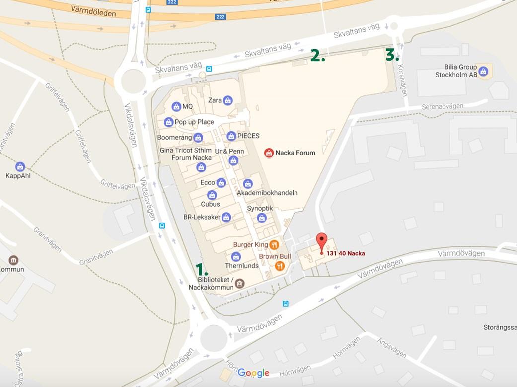 Karta över renoveringar