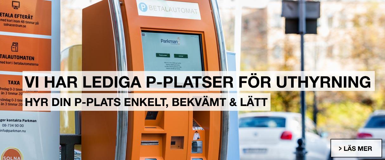 Lediga parkeringsplatser i Solna C