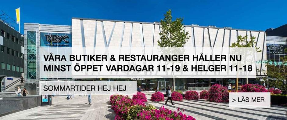 Öppettider Täby Centrum