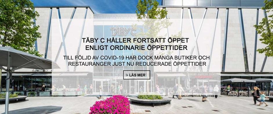Information om öppettider, Täby Centrum