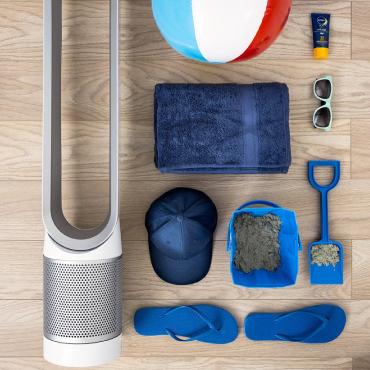 Speaker and beach items