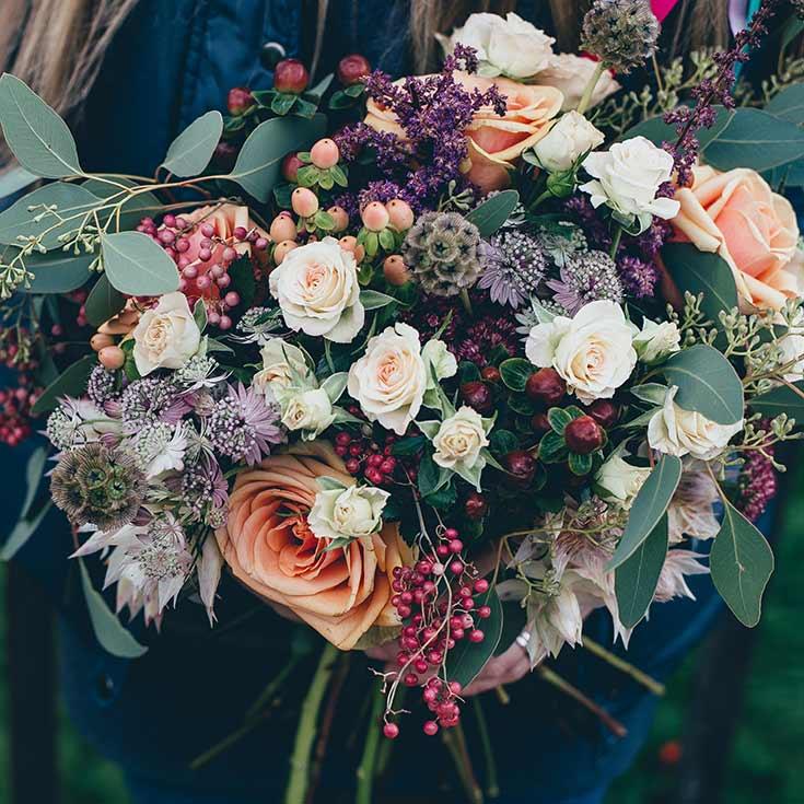 bukett blommor